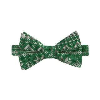 Celebrate Shop Snowflake Fair Isle Green Pre-Tied Butterfly Bow Tie