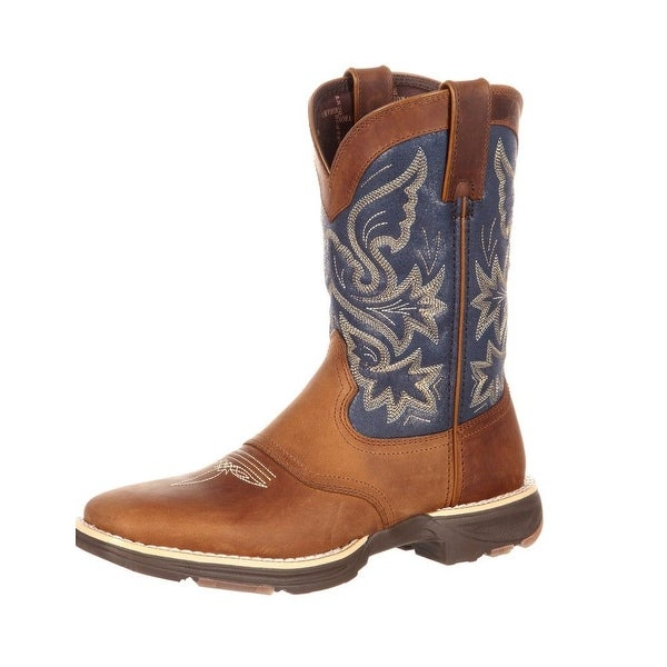 Durango Western Boots Womens Ultralite Saddle Square Toe Tan