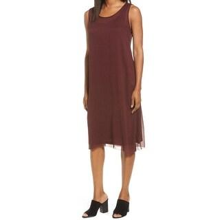 Eileen Fisher Womens Medium Sleeveless Shift Dress