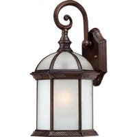 "Nuvo Lighting 60/4982 Boxwood 1-Light 15-3/4"" Tall Outdoor Wall Sconce with Frosted Glass Shade - ADA Compliant"