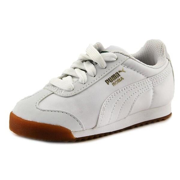 db6cbfa47f4 Shop Puma Roma Basic Summer Toddler Round Toe Canvas White Sneakers ...