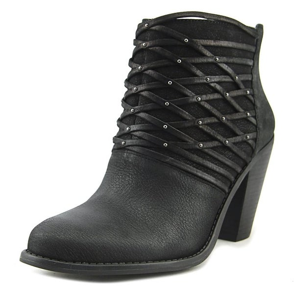 Jessica Simpson Claireen Women Round Toe Leather Black Bootie