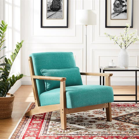 34.6W Solid Wood Arm chair,Accent Chair