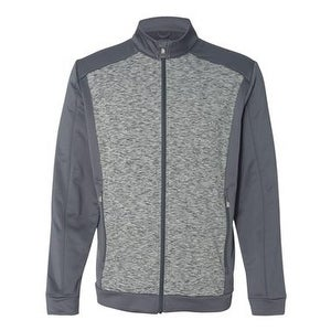 Adidas Golf Space Dyed Colorblock Full-Zip Jacket - Lead - 2XL