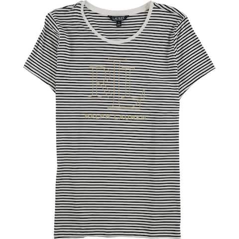 Ralph Lauren Womens Stripe Graphic T-Shirt