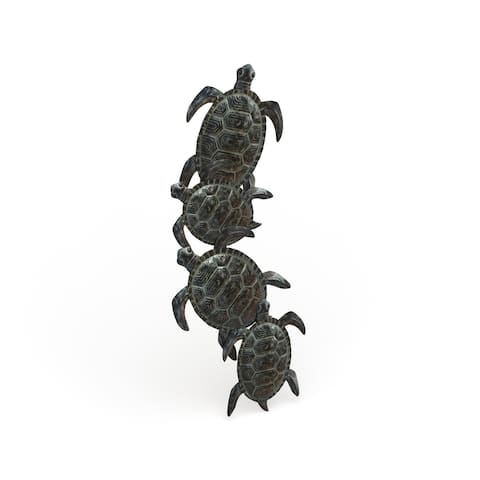 The Curated Nomad Castine Turtle Metal Wall Hanging Sculpture