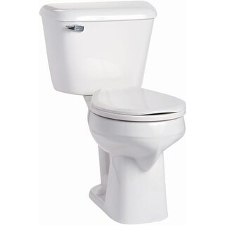 Mansfield 117-160 Alto 1.6 GPF Two-Piece Round Comfort Height Toilet - Less Seat