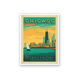 Chicago Lake Michigan - Anderson Design Group - 18x14 Matte Poster Print Wall Art