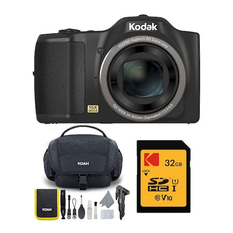 Kodak PIXPRO FZ152 Compact Digital Camera with Bag & 32GB Card Bundle
