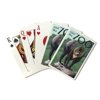 Mandrill - Visit the Zoo - Lantern Press Artwork (Poker Playing Cards Deck)