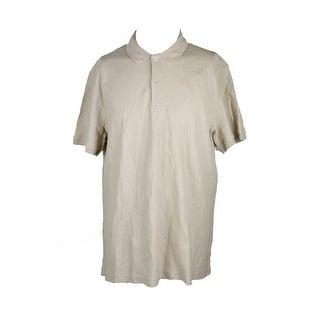 Club Room Khaki Solid Estate Performance Polo Shirt XXL