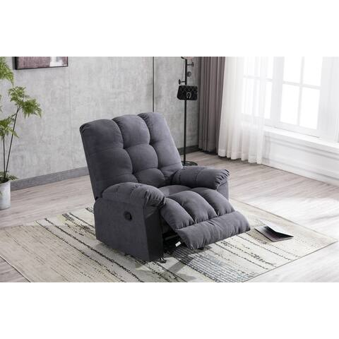 TiramisuBest Rocking chair Recliner, modern living room sofa (Navy)