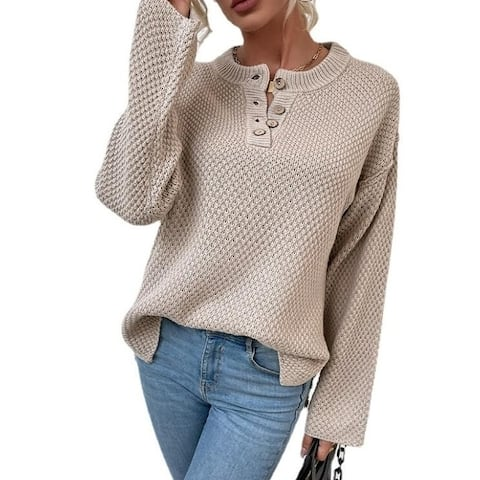 Long Sleeve Knit Sweaters Outerwear Tops