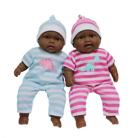 """13"""" Lots to Cuddle Babies - Twins (African American)"""