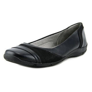 Life Stride Dig Women N/S Round Toe Leather Black Flats