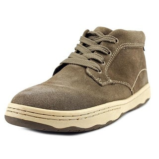 Simple Barney Men Plain Toe Suede Brown Chukka Boot