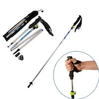Agptek Folding Trekking Pole Collapsible Alpenstocks Ultralight Adjustable Hiking Stick