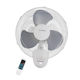 """Homebasix FW40-S1 Oscillating Wall Fan With Remote, 16"""", 3 Speed Motor"""