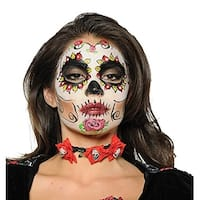 Day of the Dead Adult Costume Choker - Black