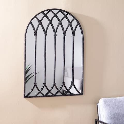 Copper Grove Chaplin Modern Farmhouse Black Metal Wall Mirror
