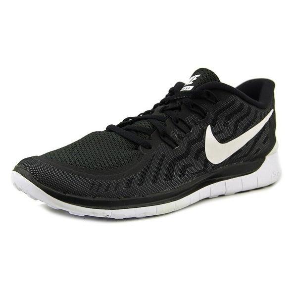 Shop Nike Free 5.0 Women Round Toe Synthetic Black Running