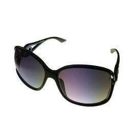 Kenneth Cole Reaction Womens Plastic Sunglass Black / Gradient Lens KC1232 1B