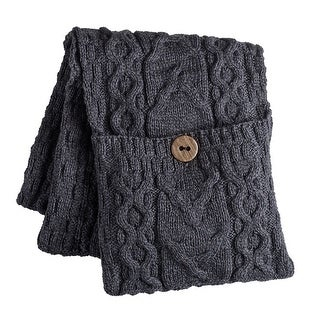 Women's Galway Bay Cable Knit Wool Pocket Scarf - One size