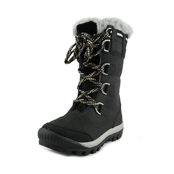 Bearpaw Desdemona Women  Round Toe Leather Black Snow Boot