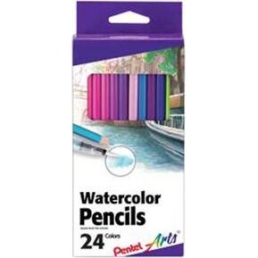 Assorted Colors - Pental Arts Watercolor Pencils 24/Pkg