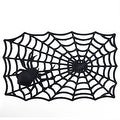 "Decorative Black Spider Web Outdoor Rubber Halloween Door Mat 29"" x 17.75"" - Thumbnail 0"