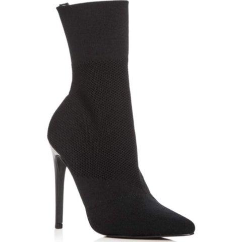 Aqua Womens Cento Fabric Pointed Toe Mid-Calf Fashion Boots