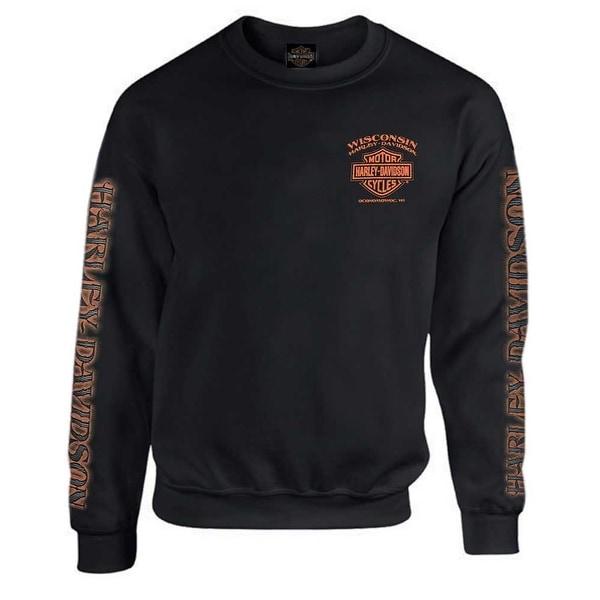 261381f4553 Shop Harley-Davidson Men s Eagle Piston Fleece Pullover Sweatshirt ...