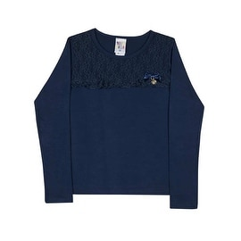 Girls Long Sleeve T-Shirt Kids Floral Lace Tee Pulla Bulla Sizes 2-10 Years