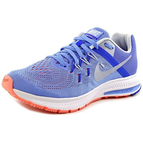 8c1eac849d60 Shop Nike Zoom Winflo 2 Women Round Toe Synthetic Blue Running Shoe ...