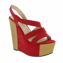 Red Circle Footwear 'Entwine' Strappy Sling Back Wedge
