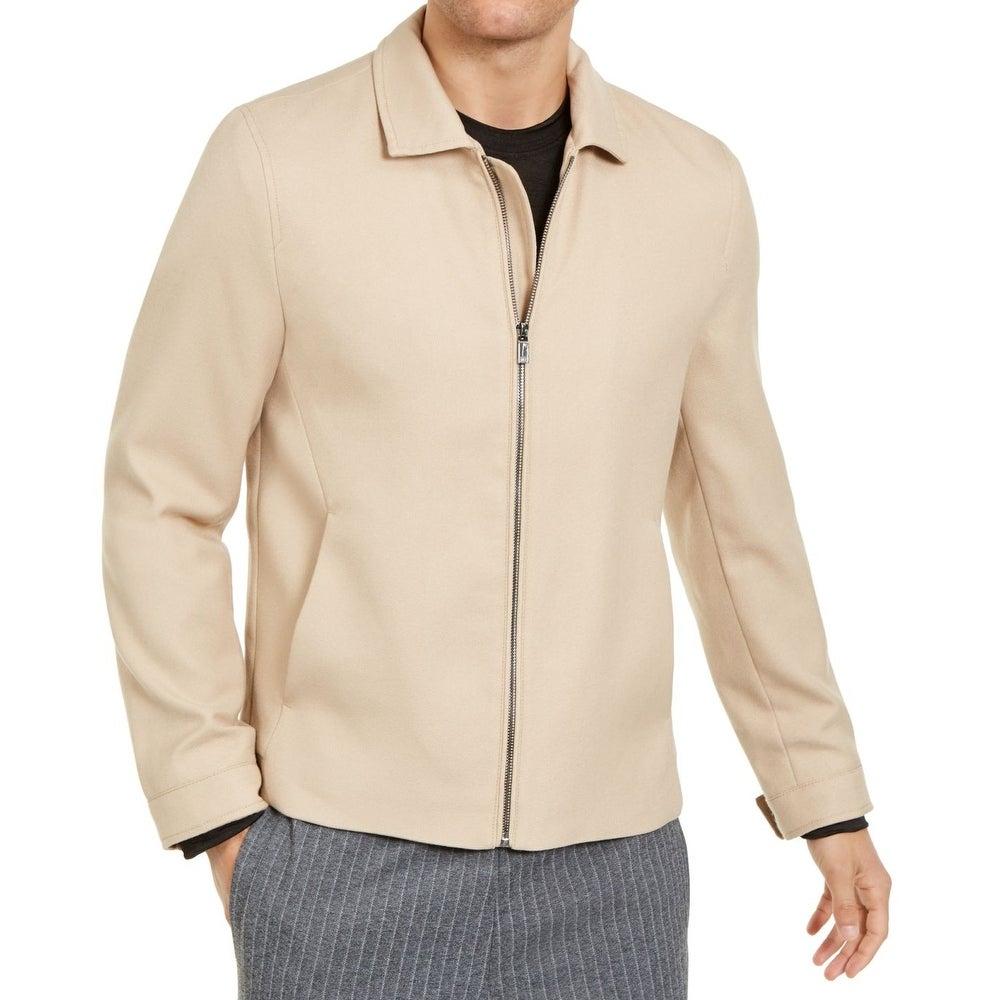 Alfani Men/'s Jacket Navy Blue Size Large L Full-Zip Long Length $149 #063