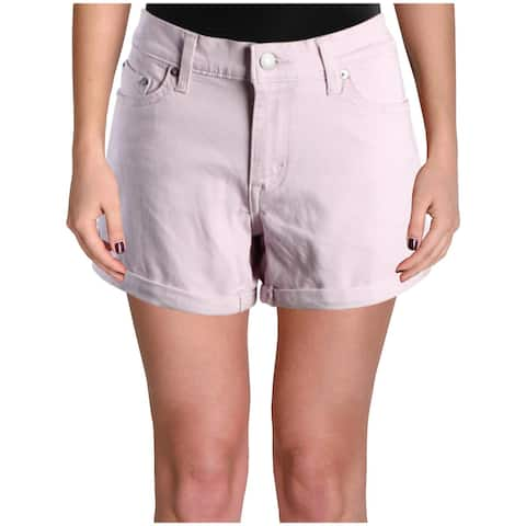 Levi's Womens Baileya Denim Shorts Mid-Rise Colored