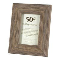 Dicksons  7.125 x 9.12 in. 50 th Anniversary Tabletop Photo Frame