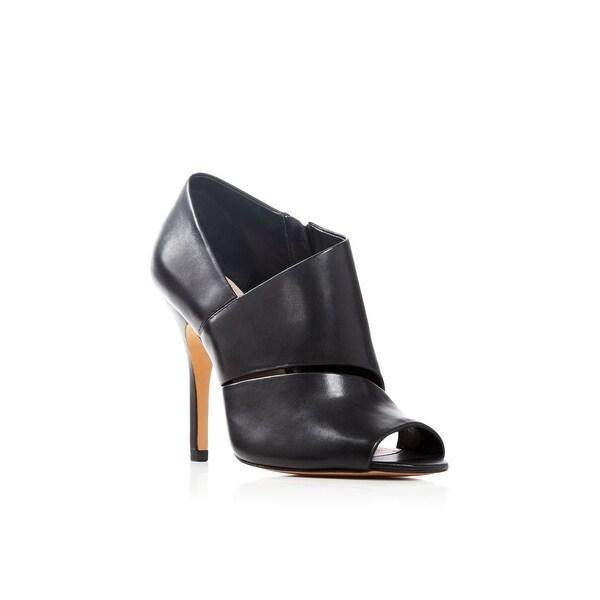 Pour La Victoire Womens Yale Leather Peep Toe Classic Pumps