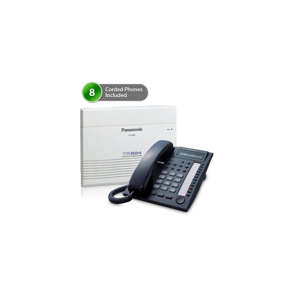 Panasonic KX-TA824-7730B (8 pack) Advanced Hybrid Telephone / Intercom System plus 8 Hybrid Phones KX-T7730