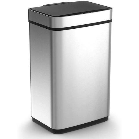 Caynel 13 Gallon Rectangular Touchless Sensor Trash Can