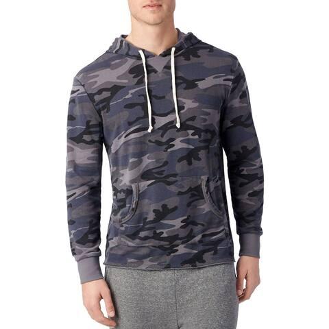 Alternative Mens School Yard French Terry Hoodie Sweatshirt Medium M Slate Camo