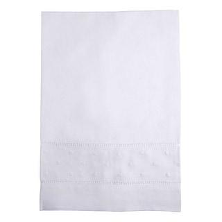 Parisian Cafe Embroidered Linen Tea Towel