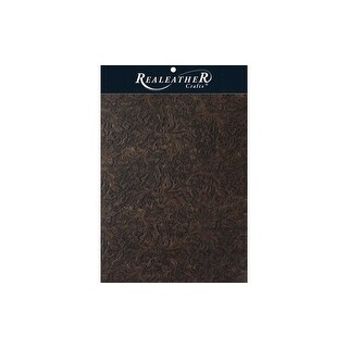 Silver Creek Leather Trim 8.5x11 Acanthus Brown
