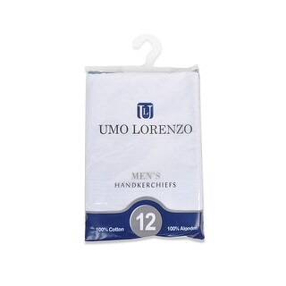 Men's White 100% Cotton Soft Finish Handkerchiefs - regular
