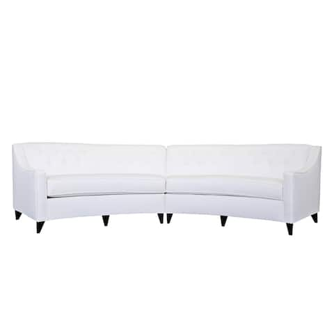 Charlotte Curved White Sectional Sofa