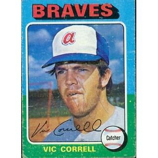 Signed Correll Vic Atlanta Braves signed 1975 Topps Baseball Card in black pen Very light Signature