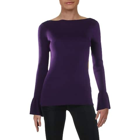 Lauren Ralph Lauren Womens Sweater Long Sleeves Ribbed