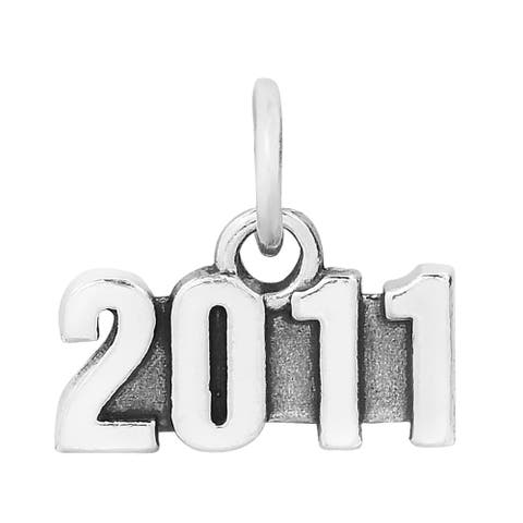 Handmade Year 2011 Tag Sterling Silver Charm Pendant (Thailand)