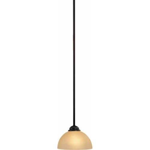 Volume Lighting V2411 Bernice 1 Light Down 6 Height Pendant With Sepia Gl